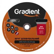 Круг шлифовальный GRADIENT 230x6,0x22,23 мм T27 (чашка)